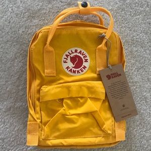 Warm yellow mini kanken backpack - NO TRADES